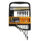 Набор ключей комбинированых трещоточных 8 предметов ЭВРИКА ER-20619