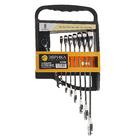 Набор ключей комбинированых трещоточных 8 предметов ЭВРИКА ER-20622