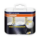 Автолампа Osram 12V H4 60/55W P43T +60% света 2600K желтая 2шт 62193FBR DUO